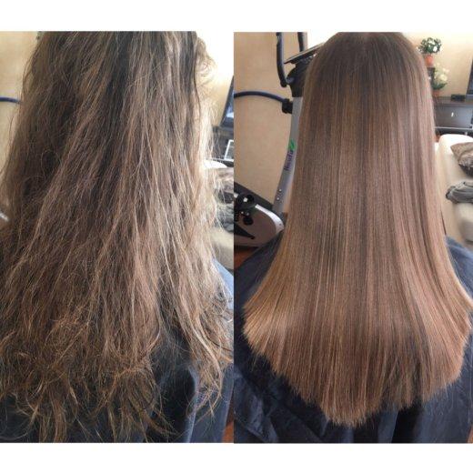 Полировка волос/ кератиновое выпрямление/ботекс. Фото 1. Москва.