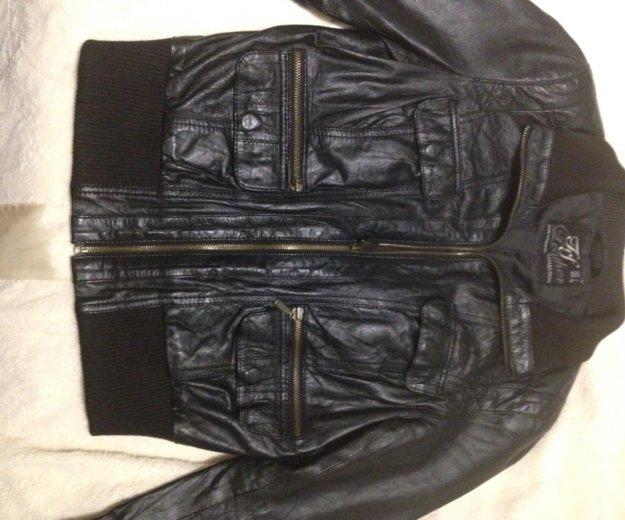Кожаная куртка zara. Фото 1. Котельники.