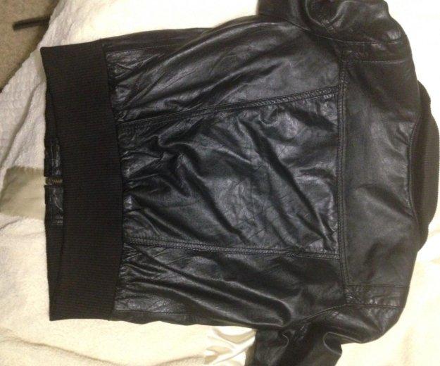 Кожаная куртка zara. Фото 3. Котельники.