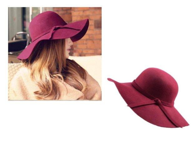 Шляпа фетровая. цвет бургундия. новая. Фото 1. Оренбург.