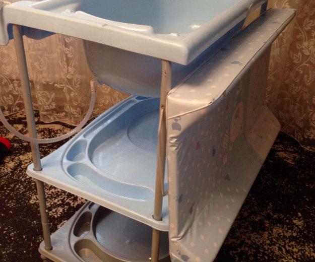 Ванночка для купания с пеленальным столиком. Фото 2. Тюмень.