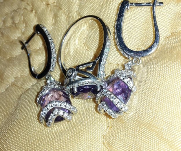 Санлайт кольцо и серьги. Фото 1. Королев.