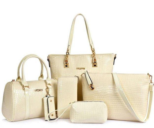 Наборы женских сумок из 6 предметов. новые. Фото 1.