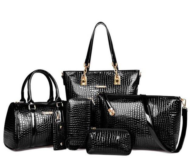 Наборы женских сумок из 6 предметов. новые. Фото 2.