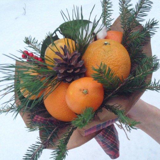 Букеты из фруктов и цветов. съедобные букеты. Фото 3. Пермь.