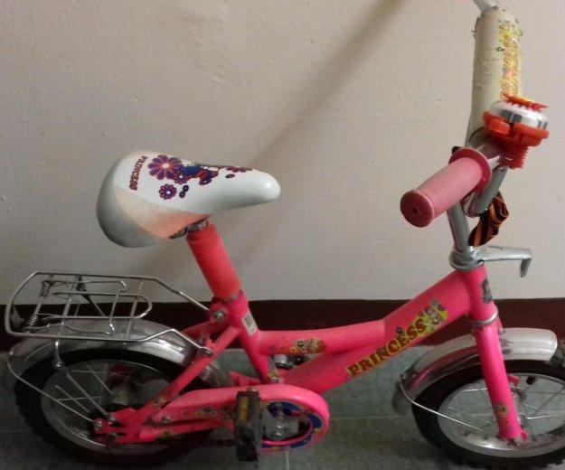 Велосипед детский розового цвета. Фото 3. Москва.