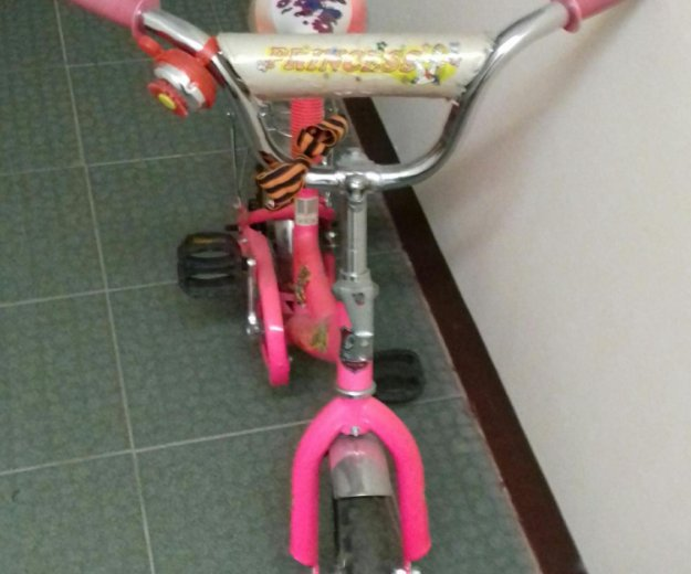 Велосипед детский розового цвета. Фото 4. Москва.