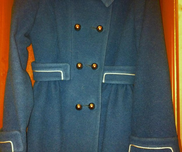 Пальто, морского цвета,приталенное.. Фото 1. Магнитогорск.