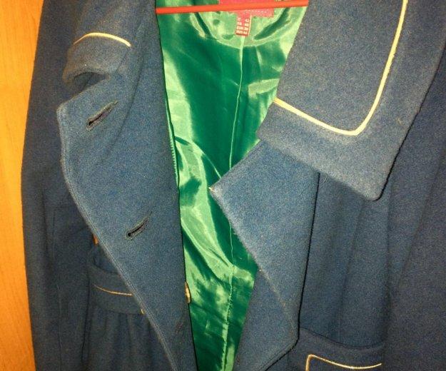 Пальто, морского цвета,приталенное.. Фото 2. Магнитогорск.