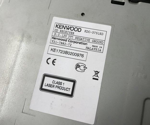 Магнитола kenwood kdc-5751sd. Фото 4.