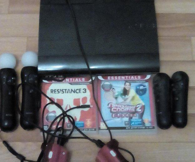 Playstation 3 super slim 500gb. Фото 2. Воронеж.