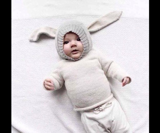Шапка заяц 1-18 месяцев. Фото 2. Москва.