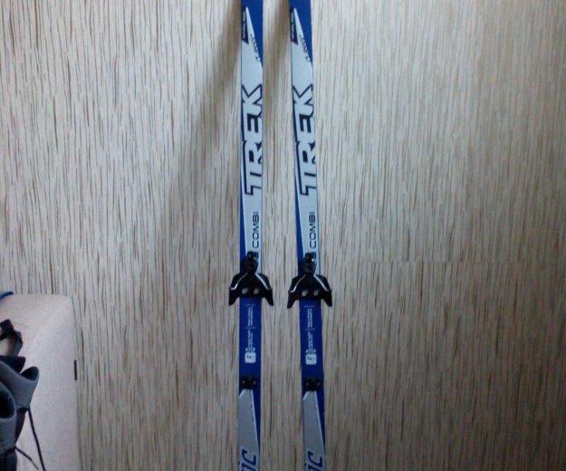 Комплект лыжи, ботинки, палки. Фото 3. Киров.