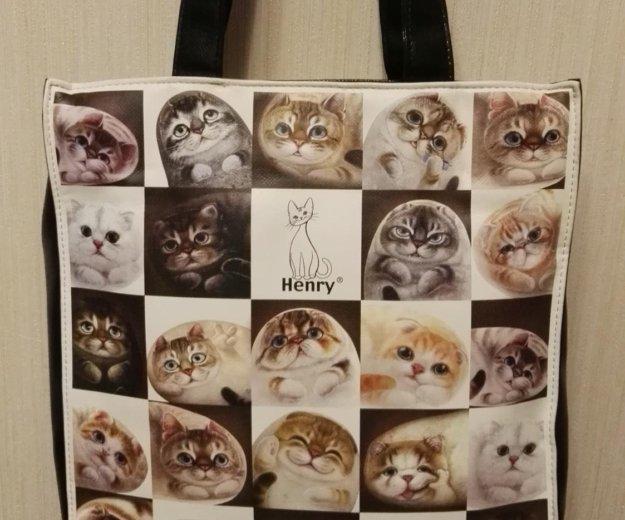Сумка новая henry cats and friends (кошки генри). Фото 1. Москва.