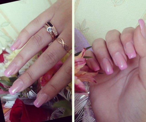 Наращивание ногтей, покрытие своих ногтей гелем. Фото 3. Ульяновск.