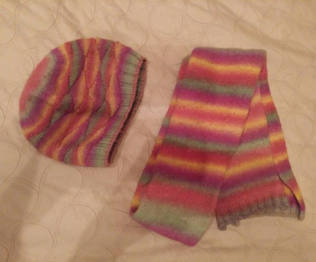 Комплект шарф и шапка. Фото 1. Москва.