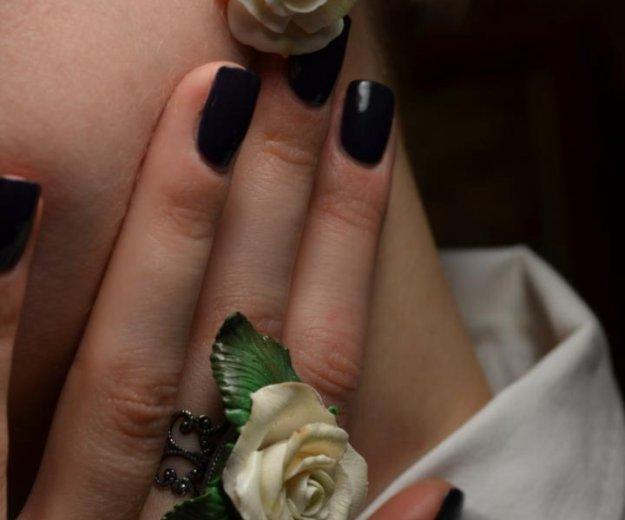 """Кольцо и серьги  """"розы белые"""". Фото 2. Москва."""