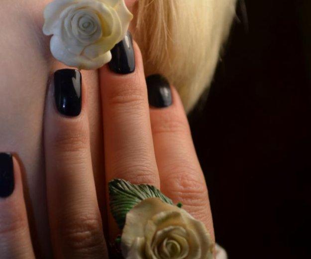 """Кольцо и серьги  """"розы белые"""". Фото 3. Москва."""