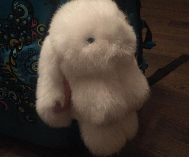 Брелок-кролик, натуральный мех. Фото 3. Москва.
