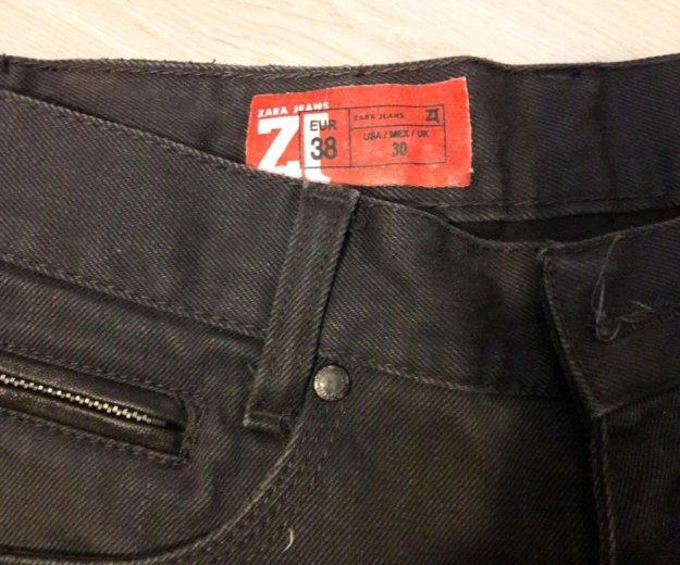 Новые джинсы мужские  zara 38 размера, нет пуговиц. Фото 2.
