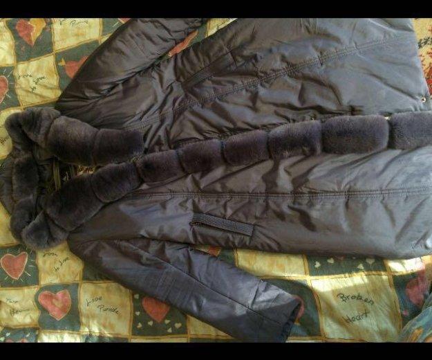 Пальто с мехом кролика. Фото 1. Москва.