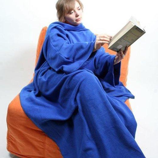 Плед с рукавами sleepy синий. Фото 1. Москва.