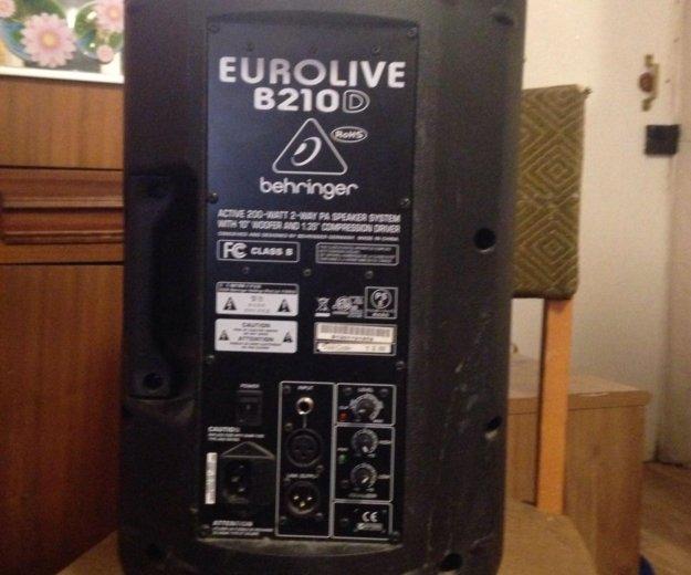 Акустическая система behringer eurolive b210d. Фото 1. Москва.