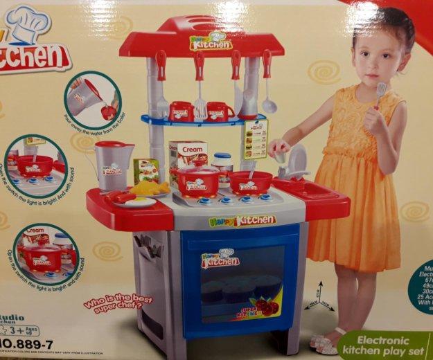 Игрушечная детская кухня с посудой. Фото 1. Москва.