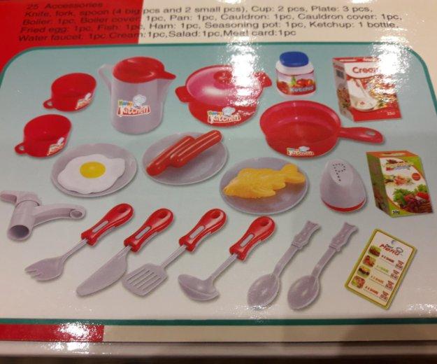 Игрушечная детская кухня с посудой. Фото 3. Москва.