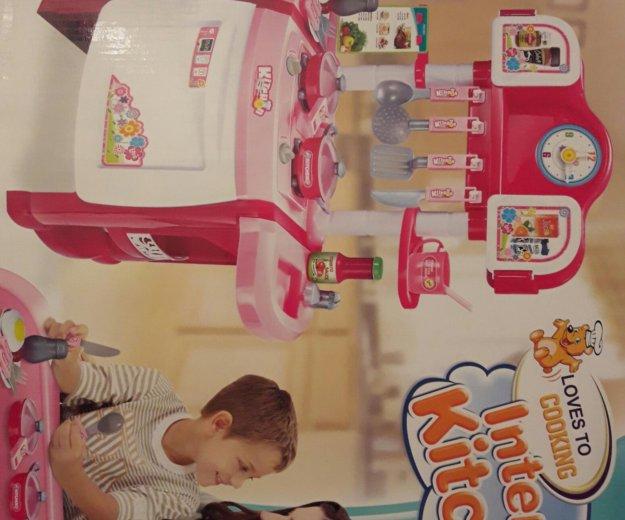 Игрушечная детская кухня с часами. Фото 1. Москва.