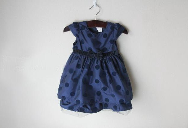 Синее платье с бархатными вставками. Фото 1. Грязи.