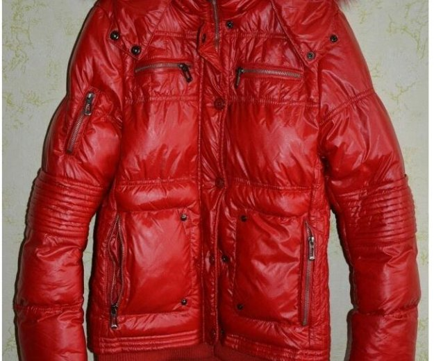 Отличная теплая куртка пуховик. Фото 1. Краснодар.