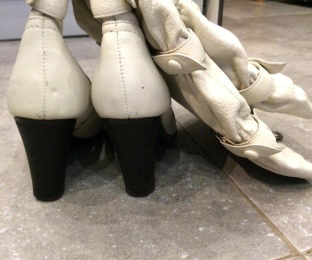 Сапоги осенние кожаные. Фото 3. Санкт-Петербург.