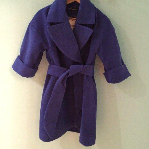 Синее пальто на весну. Фото 1. Пушкино.