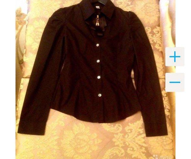Чёрная новая рубашка с рукавом. Фото 2. Краснодар.