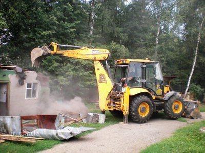 Демонтаж зданий. Фото 1. Сиверский.