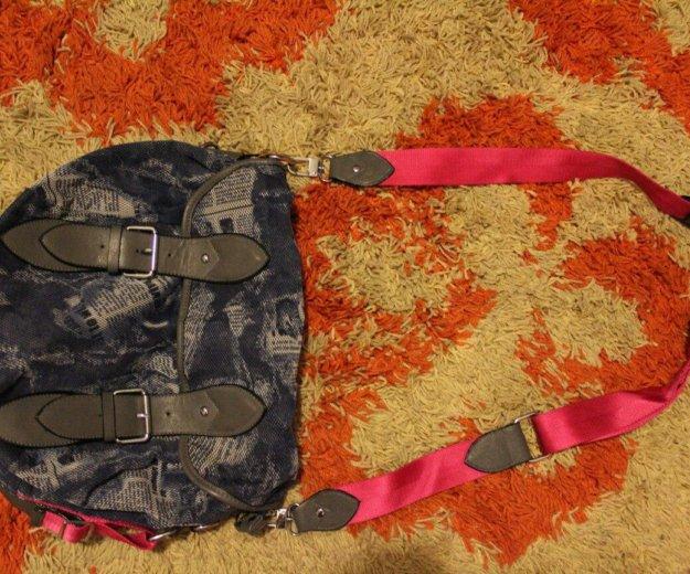Джинсовая сумка. Фото 2. Горбунки.