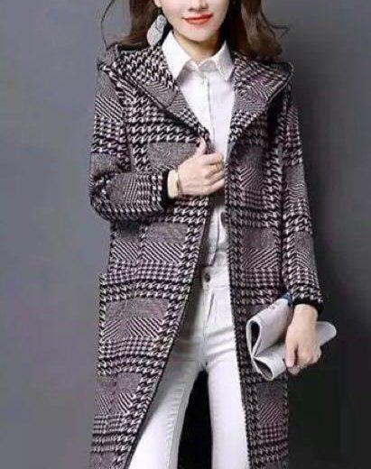 Трикотажное пальто с капюшоном на 48-50. Фото 4. Москва.