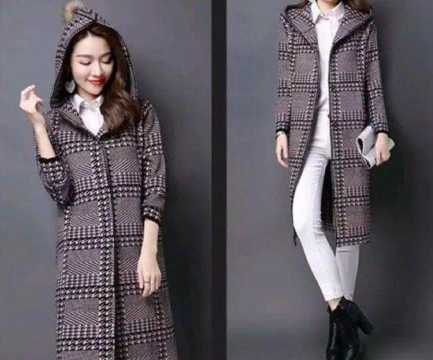 Трикотажное пальто с капюшоном на 48-50. Фото 3. Москва.