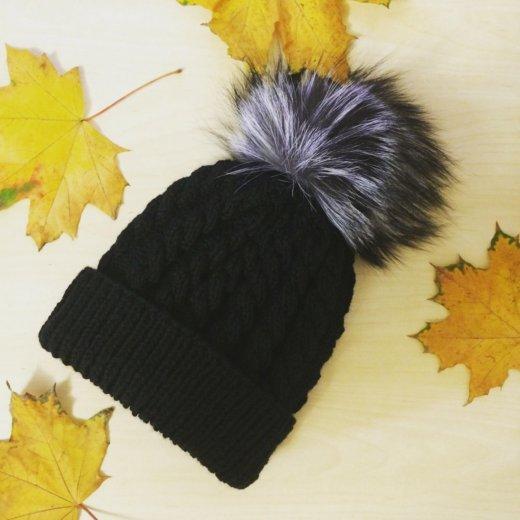 Зимняя шапка ручной работы. Фото 1. Москва.