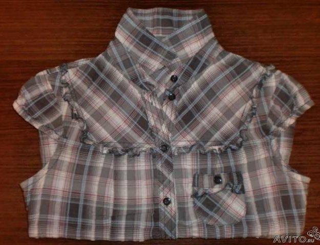 Мегамодная блузка рубашка в клетку тренд. Фото 1. Москва.