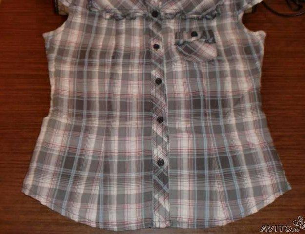 Мегамодная блузка рубашка в клетку тренд. Фото 2. Москва.