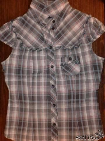 Мегамодная блузка рубашка в клетку тренд. Фото 3. Москва.