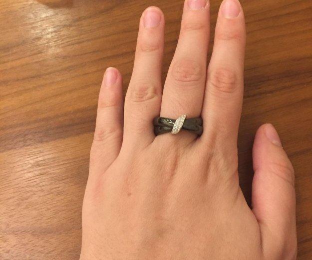 Кольцо серебряное с керамикой и цирконами. Фото 2. Химки.