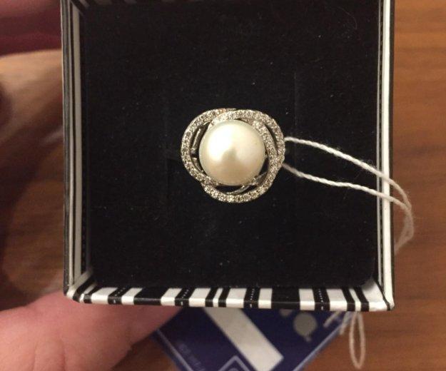 Кольцо из серебра с жемчугом. Фото 1. Химки.