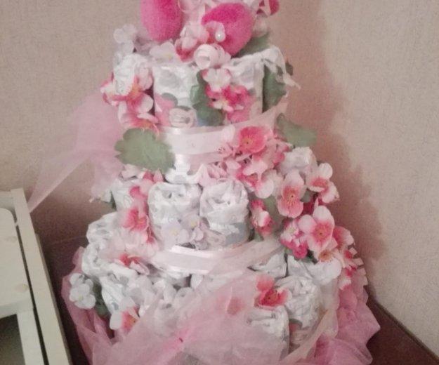 Тортик из памперсов. Фото 1.