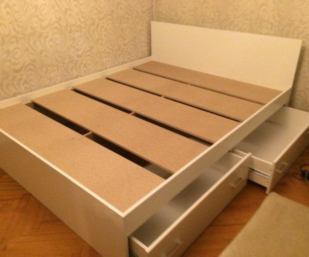 Кровать аделия с ящиками(белая). Фото 4. Москва.