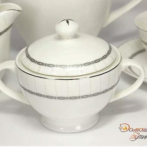Фарфоровый чайный сервиз из 15 предметов. Фото 3. Москва.