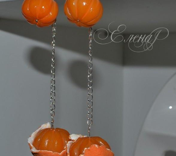 Серьги мандаринки.. Фото 1. Орехово-Зуево.