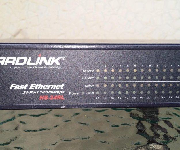 Продам свитч hardlink hs-24rl. Фото 2. Чита.